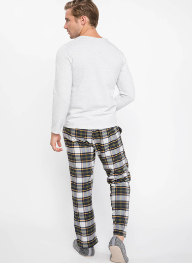 DeFacto Pijama Takımı Gri